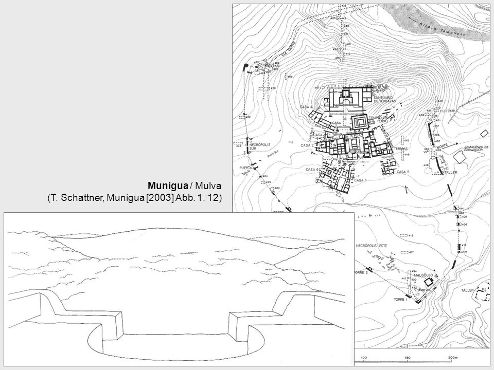 Munigua / Mulva (T. Schattner, Munigua [2003] Abb. 1. 12)